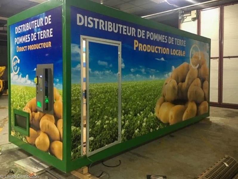distributeur à tapis pour pommes de terre