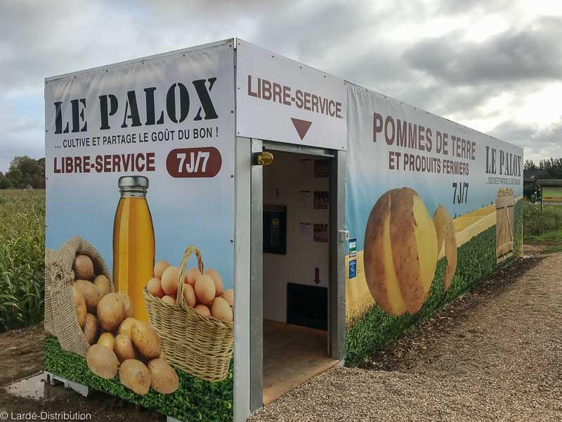 distributeur à tapis pommes de terre